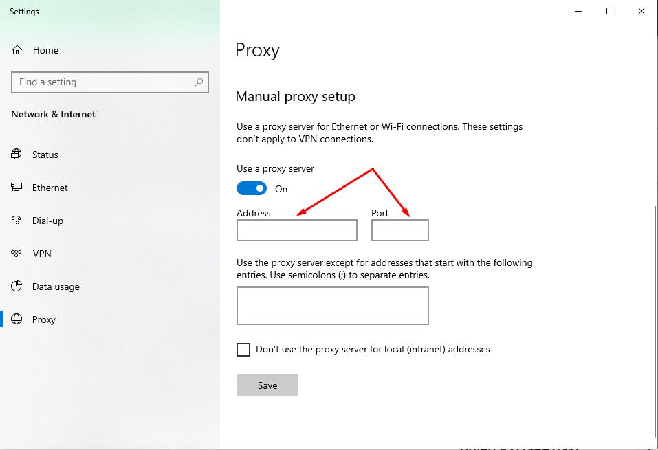 dedicated proxy
